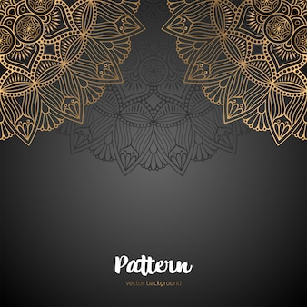 Modello senza cuciture bellissimo mandala islamico.