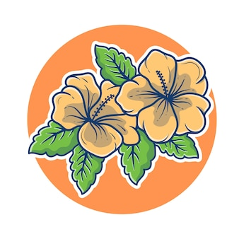 Bella illustrazione del fiore di gelsomino. concetto di marchio di gelsomino. logo mascotte fiore di gelsomino. stile cartone animato piatto.