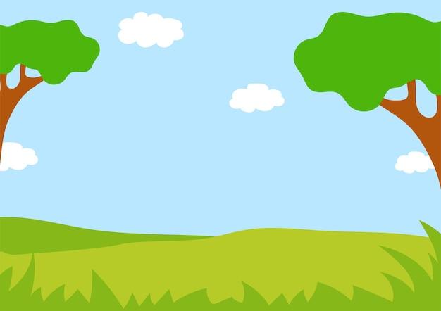 Bellissimo paesaggio sfondo colorato per il tuo design