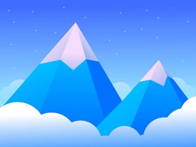 Bella montagna di ghiaccio del paesaggio