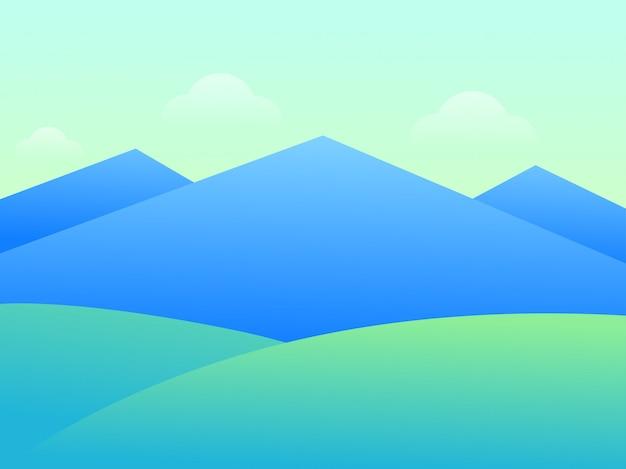 Bella montagna di paesaggio