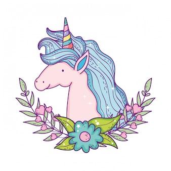 Bel carattere di testa di unicorno