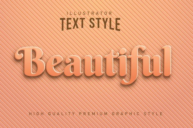 Stile grafico modificabile variopinto di bello effetto moderno del testo