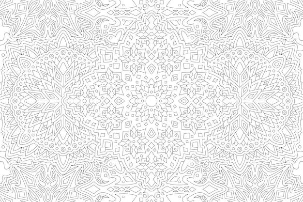 Bella pagina da colorare lineare monocromatica