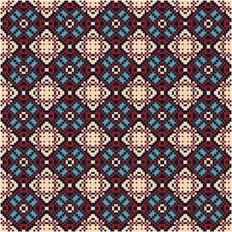 Bellissimo motivo a mosaico con stile pixel