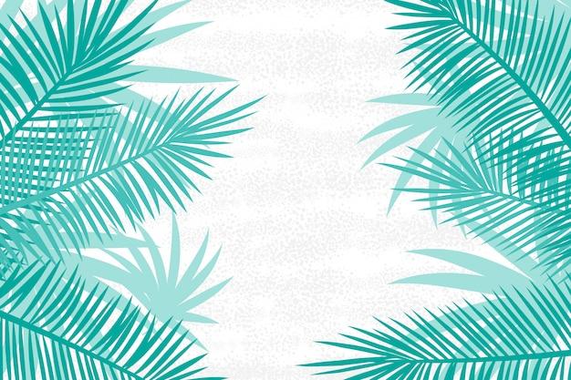 Bellissimo sfondo di foglie di palma.