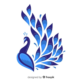 Bellissimo design di pavone