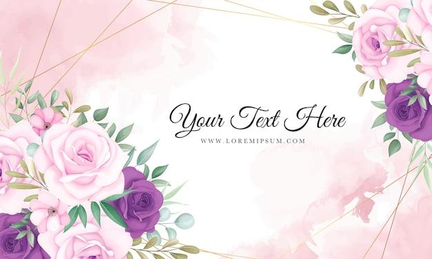Bellissimo sfondo floreale rosa e viola