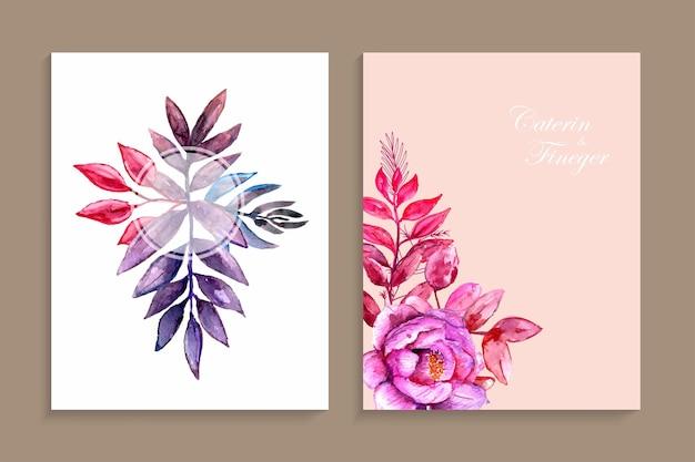 Bellissimo invito a nozze dipinto a mano ad acquerello rosa