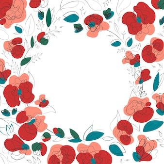 Bellissimo fiore di papavero