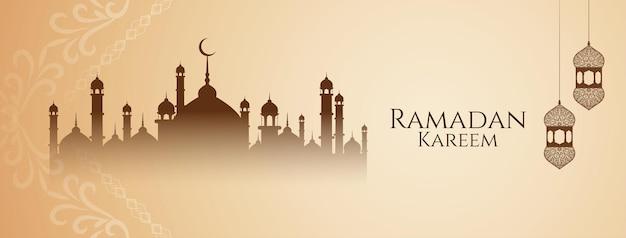 Bellissimo saluto di ramadan kareem