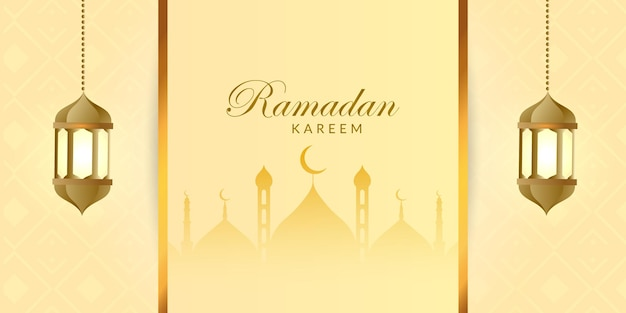 Bellissimo ramadan kareem con banner design
