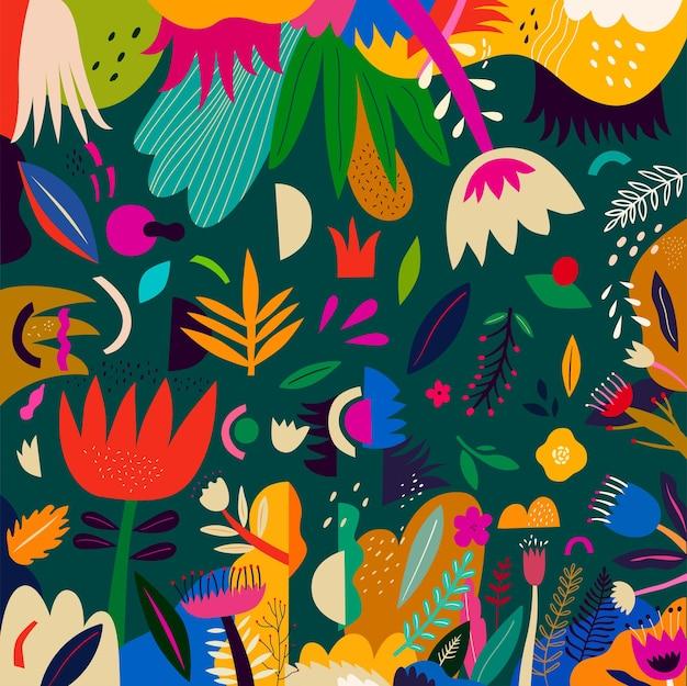 Bella collezione di fiori romantici con rose, foglie, mazzi di fiori, composizioni floreali. coloratissima primavera degnati per le vacanze: festa della donna, pasqua, san valentino, inviti e biglietti di auguri