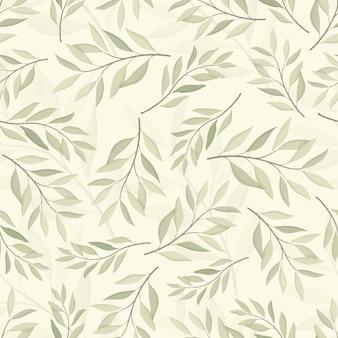 Bellissimo motivo a foglie senza soluzione di continuità