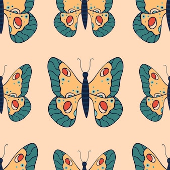 Bellissimo motivo senza cuciture con farfalle