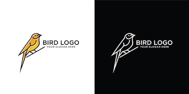 Modello di logo bellissimo uccello semplice