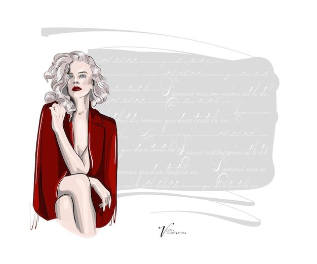 Bellissimo schizzo di una splendida signora sexy