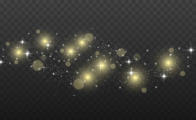Belle scintille brillano di luce speciale. scintilla. modello astratto di natale.