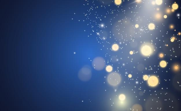 Belle scintille brillano di luce speciale. brilla.