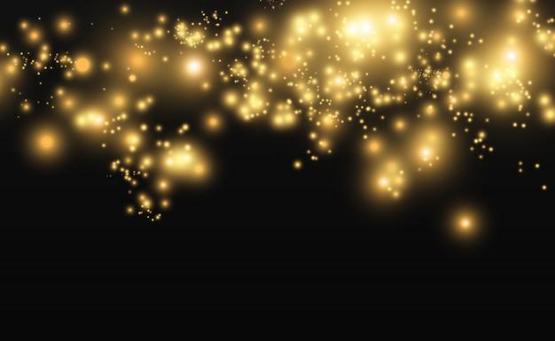 Belle scintille brillano di luce speciale. scintille vettoriali su uno sfondo trasparente. modello astratto di natale. una bella illustrazione per la cartolina. lo sfondo per l'immagine. luminari.