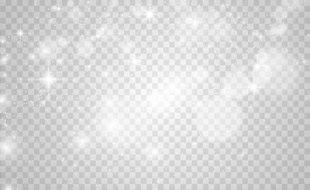 Bellissime scintille brillano di luce speciale vector brilla su uno sfondo trasparente