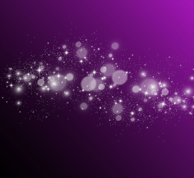 Belle scintille brillano di luce speciale.