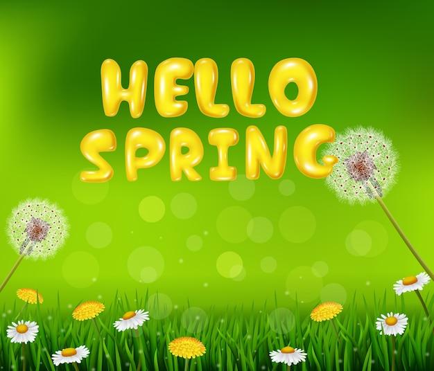 Bella primavera o estate sfondo di natura stagione
