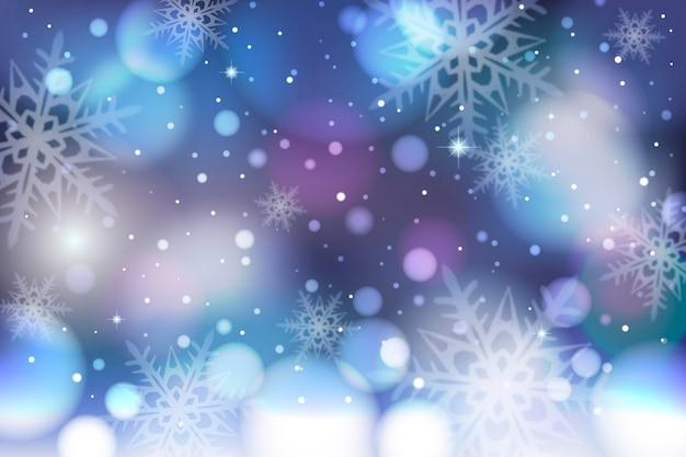 Bellissimo sfondo invernale sfocato