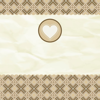 Bella cartolina di san valentino con il cuore.
