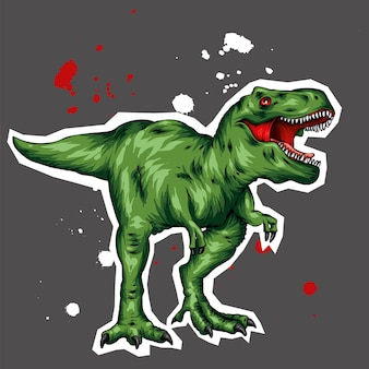 Un bellissimo dinosauro vettoriale.