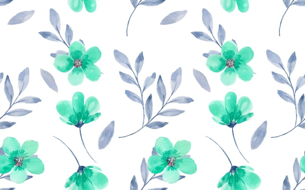 Bellissimi fiori ad acquerello come modello senza cuciture