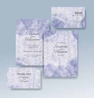 Bellissimo sfondo acquerello carta di nozze con splash