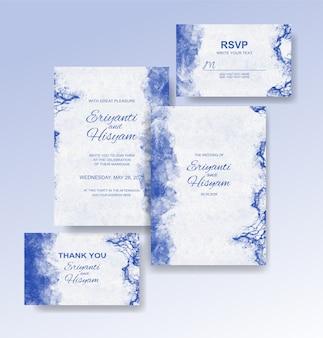 Priorità bassa dell'acquerello della bella carta di nozze con spruzzata