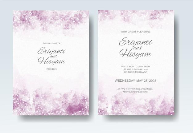 Bella spruzzata dell'acquerello della carta di nozze
