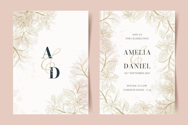 Bellissimo modello di invito a nozze