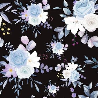 Bellissimo motivo floreale bianco senza cuciture