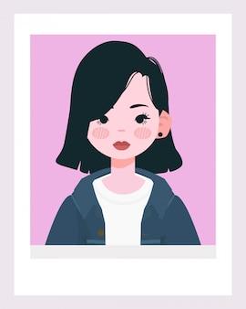 Bella ragazza bianca illustrazione.