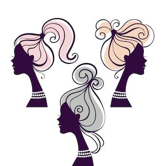 Sagome di belle donne