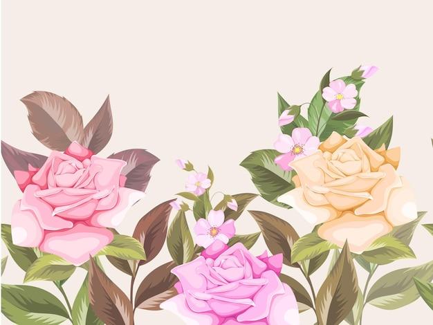 Bellissimo sfondo floreale senza soluzione di continuità