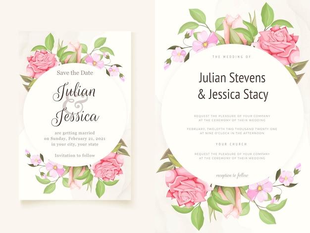Bellissimi modelli colorati di carta di invito matrimonio floreale