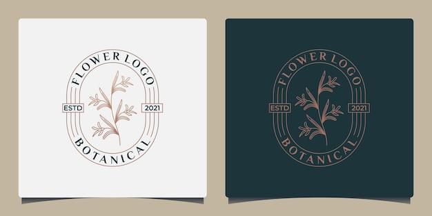 Design del logo del fiore botanico di bellezza per il tuo business salone cosmetico spa bellezza alle erbe