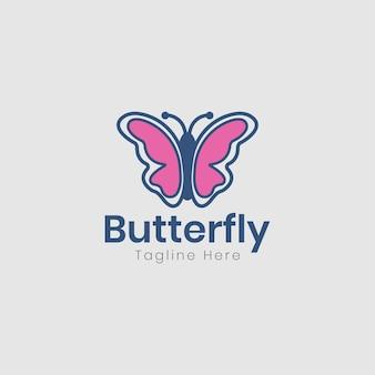 Disegno di marchio della farfalla di bellezza
