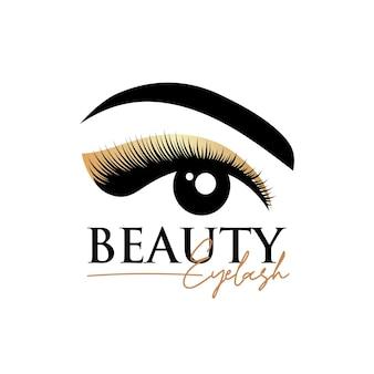 Modello di progettazione del logo di estensione delle ciglia di bellezza