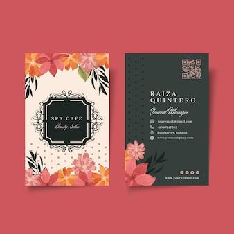 Biglietto da visita fronte-retro del salone di moda di bellezza