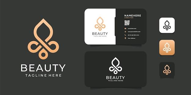 Modello di logo di identità del marchio di bellezza moda spa.