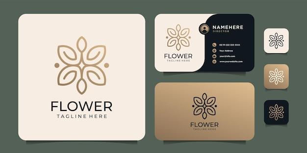 Design del logo del fiore di bellezza