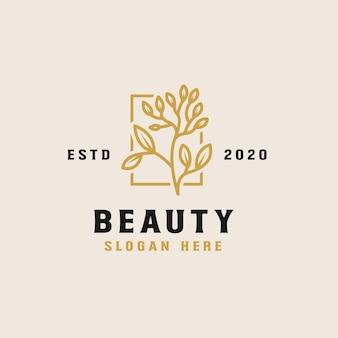 Modello di logo del fiore di bellezza