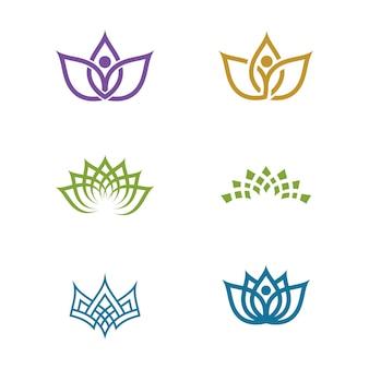 Modello di progettazione dell'icona di vettore del fiore di bellezza