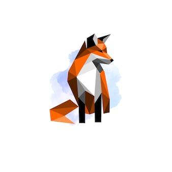 Modello di progettazione del logo della spazzola di volpe di bellezza