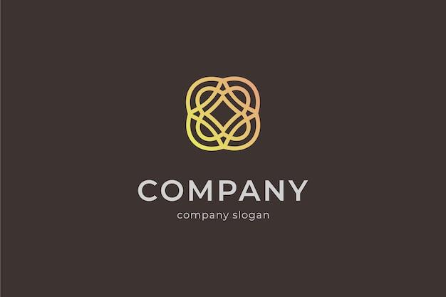 Illustrazione dell'icona di vettore del logo geometrico di bellezza